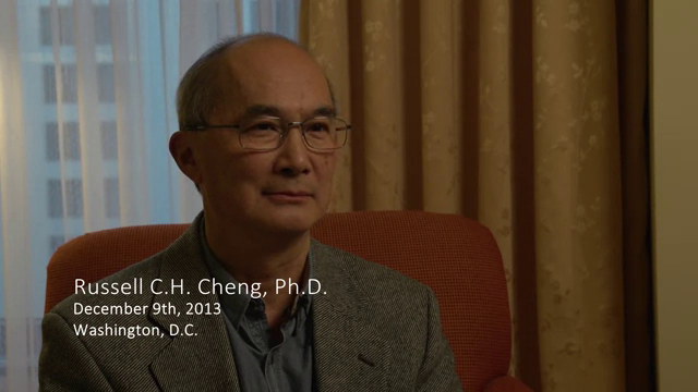 Russell C. H. Cheng interviewed by James R. Wilson