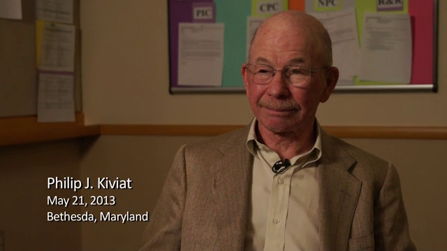 Philip J. Kiviat interviewed by Richard E. Nance