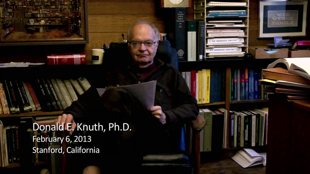 Donald E. Knuth interviewed by Richard E. Nance