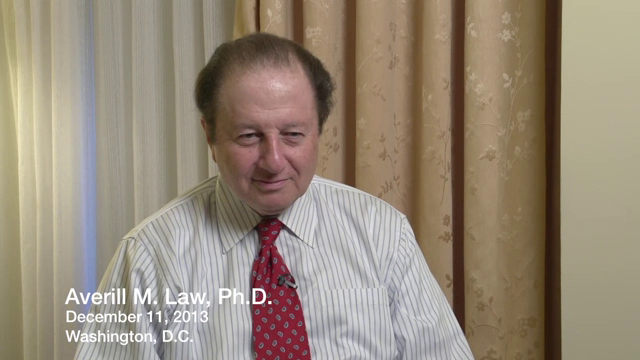 Averill M. Law interviewed by Robert G. Sargent