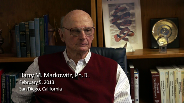 Harry M. Markowitz interviewed by Richard E. Nance