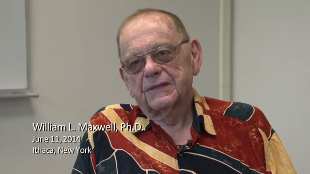 William L. Maxwell interviewed by Robert G. Sargent