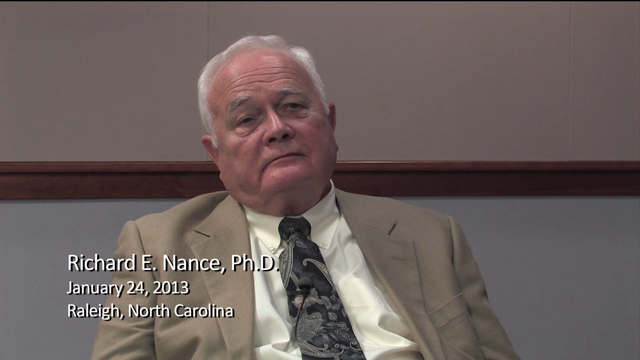 Richard E. Nance interviewed by Robert G. Sargent