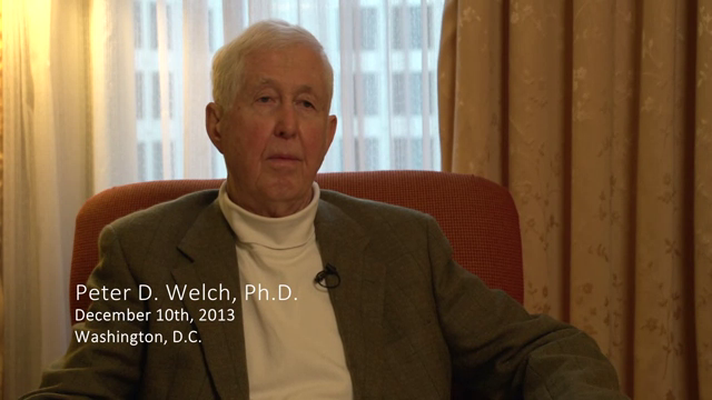 Peter D. Welch interviewed by James R. Wilson