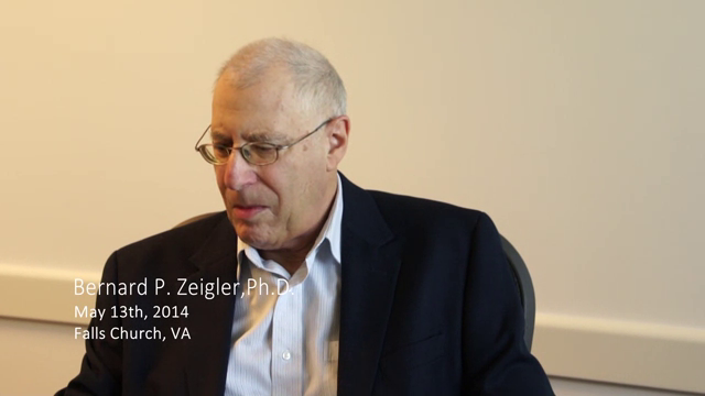 Bernard P. Zeigler interviewed by Richard E. Nance