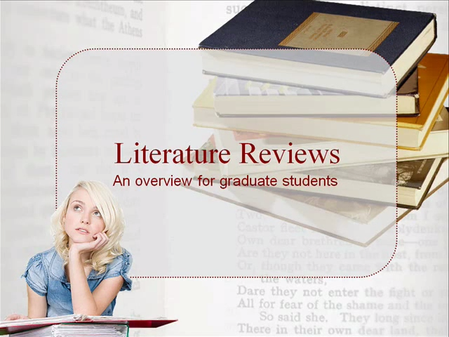 literature reviews an overview for graduate students