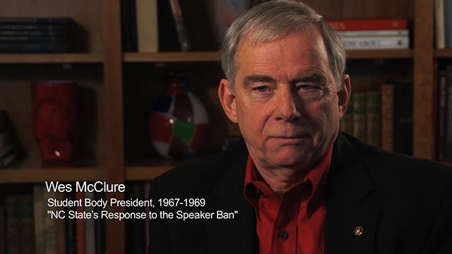 Mcclure speaker ban
